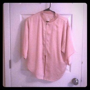 NWT Anthropologie Dolman sleeve zipper jacket